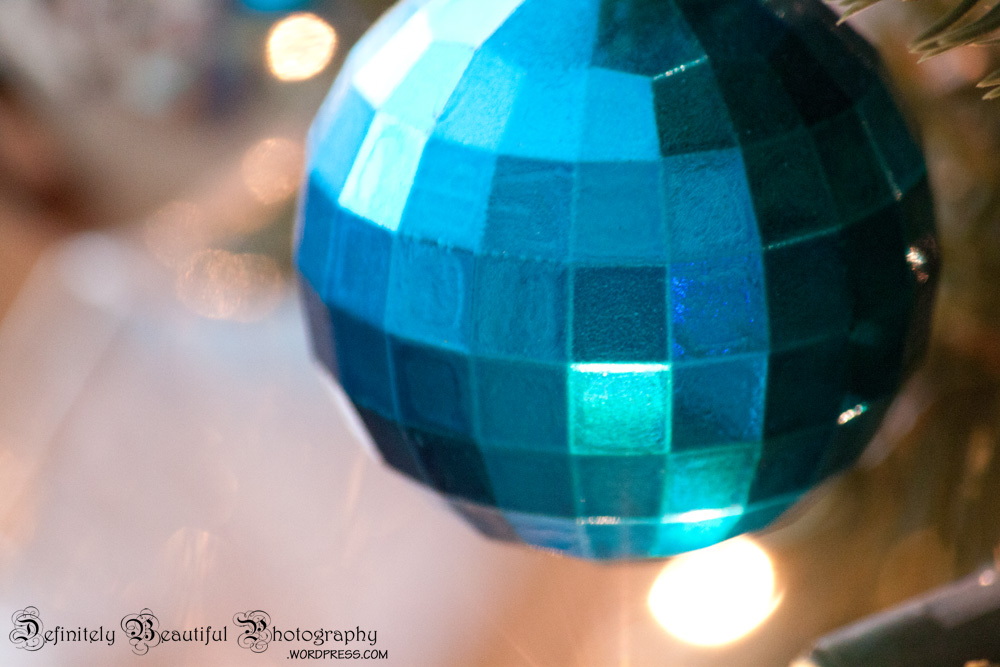 ambience square ball ornament
