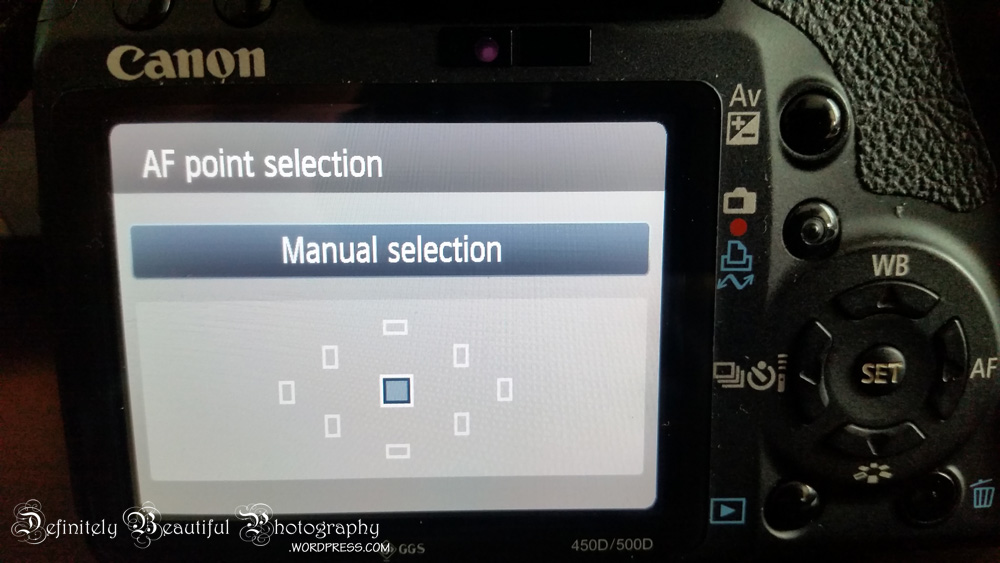 canon rebel t1i manual point selection
